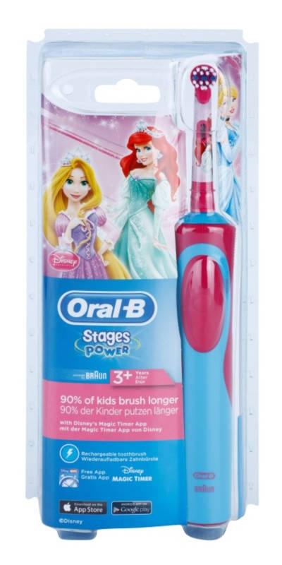 Електрична зубна електрощітка дитяча Braun Oral-B Stages Power Princess + 1  насадка eb534cead604b