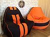 Кресло мешок Ферари+КУБИК  , бескаркасное кресло груша , мягкий пуфик, бескаркасная мебель, мебель Лофт, , фото 7