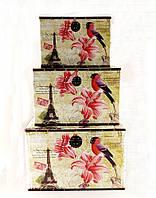Сундучки Эйфелева башня с цветком