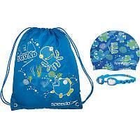Набор для плавания детский: очки, шапочка, сумка SPEEDO SQUARD POOL (ТPR,силикон,латекс)