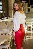 Стильная юбка-карандаш с молнией сзади(в расцветках) 2010