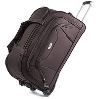 Средняя сумка Wings C1055 на 2 колесах коричневый