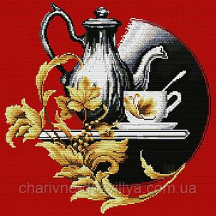 """Набор алмазной вышивки (мозаики) """"Чайный натюрморт"""", фото 2"""