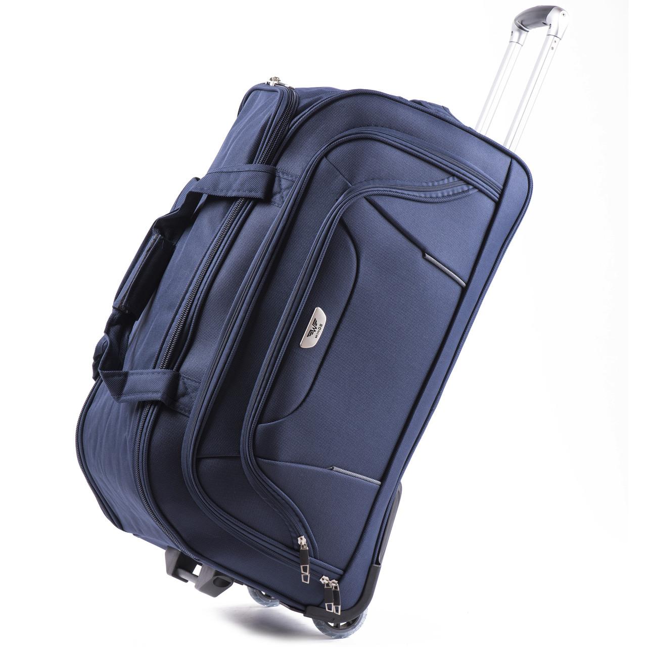 Средняя сумка Wings C1055 на 2 колесах синий