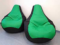 Кресло мешок, бескаркасное кресло Груша ХЛ, зеленое