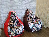 Бескаркасная мебель, кресло мешок, кресло Груша Comfort ХЛ 105*85 см
