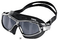 Очки (полумаска) для плавания ARENA ORBIT UNISEX (черные линзы, черная и серебристая оправа)