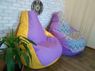 Бескаркасное кресло мешок, кресло груша, кресло подушка Flowers
