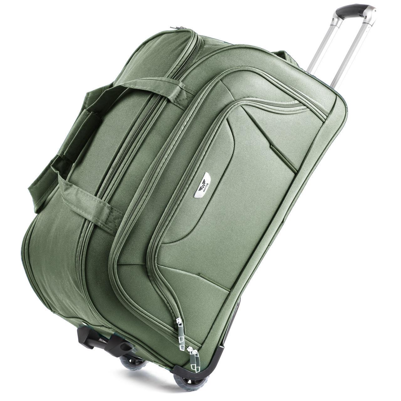 Малая сумка Wings C1055 на 2 колесах зеленый