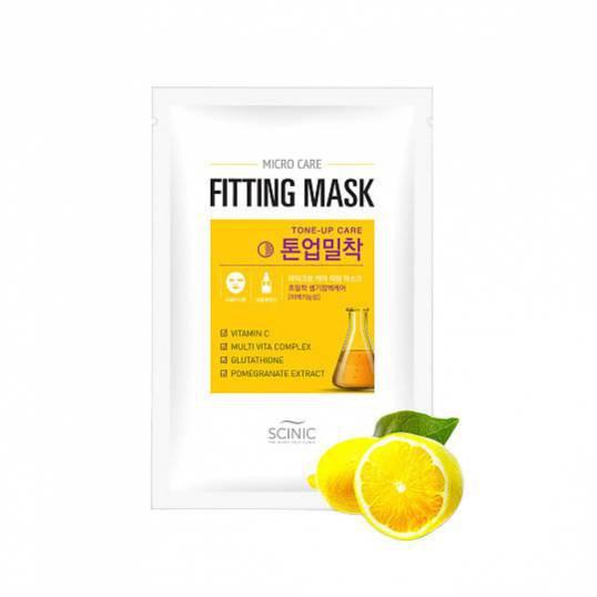 Маска для улучшения тона кожи с лимоном Scinic Micro Care Fitting Mask  [Tone Up Care]