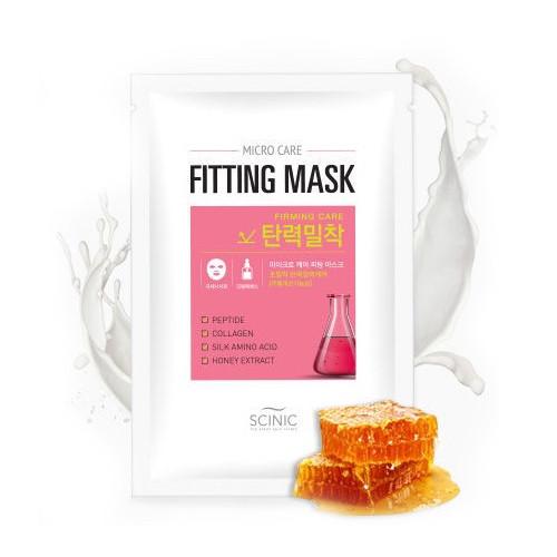 Укрепляющая лифтинг маска для лица с пептидами Scinic  Micro Care Fitting Mask  [Firming Care]