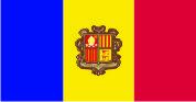 Флаг Андоры 0,9х1,2 м. шелк