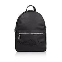 """Рюкзак жіночий шкіряний міської для повсякденного використання """"Мехенді"""". Колір чорний"""