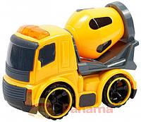 Игрушка механическая Lindo Строительная техника M579 Бетоновоз Серо-жёлтый