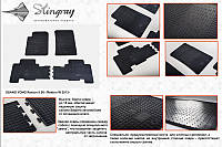 Коврики  в машину SangYong Rexton II 06 (Ссанг Йонг Рекстон) (2 шт) передние, Stingray