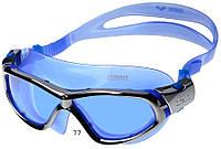 Очки (полумаска) для плавания ARENA ORBIT UNISEX (голубые линзы, серебристая и голубая оправа)