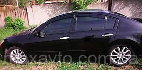 Дефлекторы боковых стекол Nissan Maxima VI (A34) 2004-2008 (Ниссан Максима) Cobra Tuning