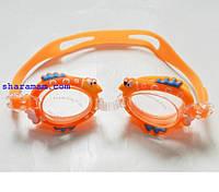 Плавальні окуляри для дітей «Зоопарк». Колір помаранчевий
