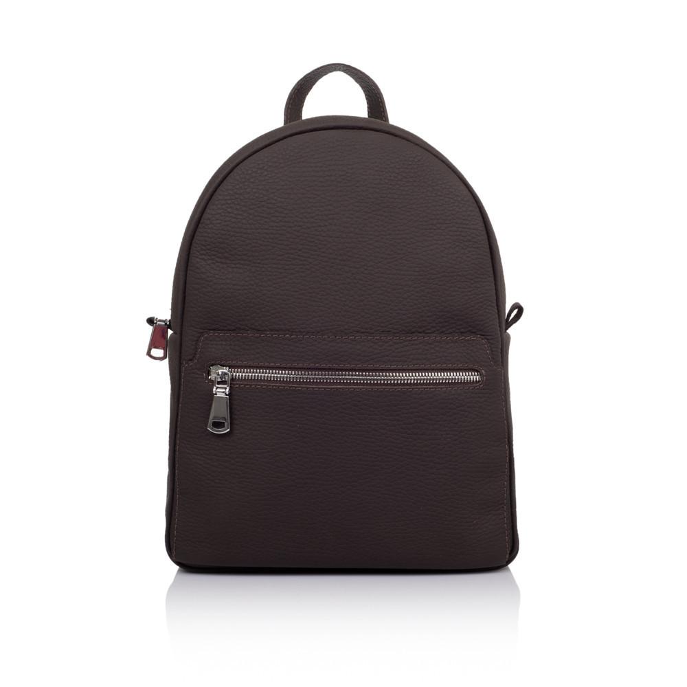 """Рюкзак женский кожаный городской для повседневного использования """"Классический"""". Цвет темно-коричневый"""