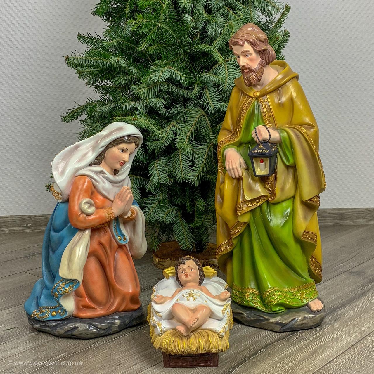 """Комплект фигур """"Дева Мария, Иосиф, Иисус """" H-53см"""