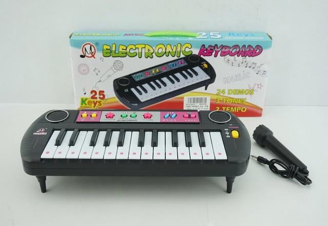Детский орган (пианино) с микрофоном, радио на батарейках (MQ029FM)