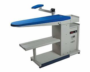 Silter SM DPS 37 консольный гладильный стол с вакуумным отсосом, нагревом поверхности и рукавной платформой