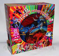 Посуда детская NINJAGO подарочный набор 3ка купить оптом со склада 7км Одесса