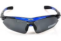 Очки RockBros черно-синие, поляризованные, со сменными линзами, фото 1
