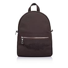 """Рюкзак жіночий шкіряний міської для повсякденного використання """"Мехенді"""". Колір темно-коричневий"""