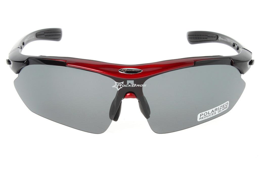 Очки RockBros черно-красные, поляризованные, со сменными линзами
