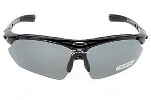 Очки RockBros черные, поляризованные, со сменными линзами