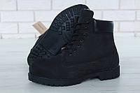 Мужские зимние ботинки Timberland с натуральным мехом (black)
