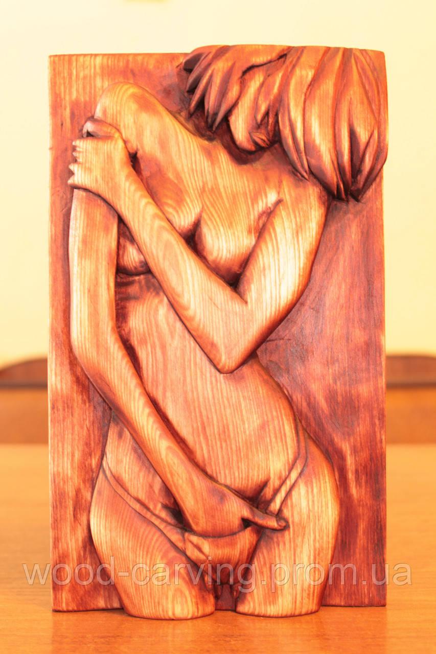 """Дерев'яне панно """"Lust"""". Різьба по дереву"""