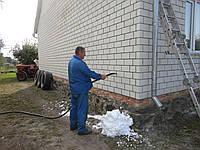 Утепление стен домов жидким пенопластом(экоизол пеноизол)