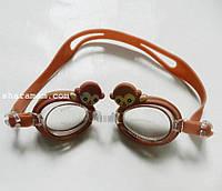 Плавальні окуляри для дітей «Зоопарк». Колір коричневий
