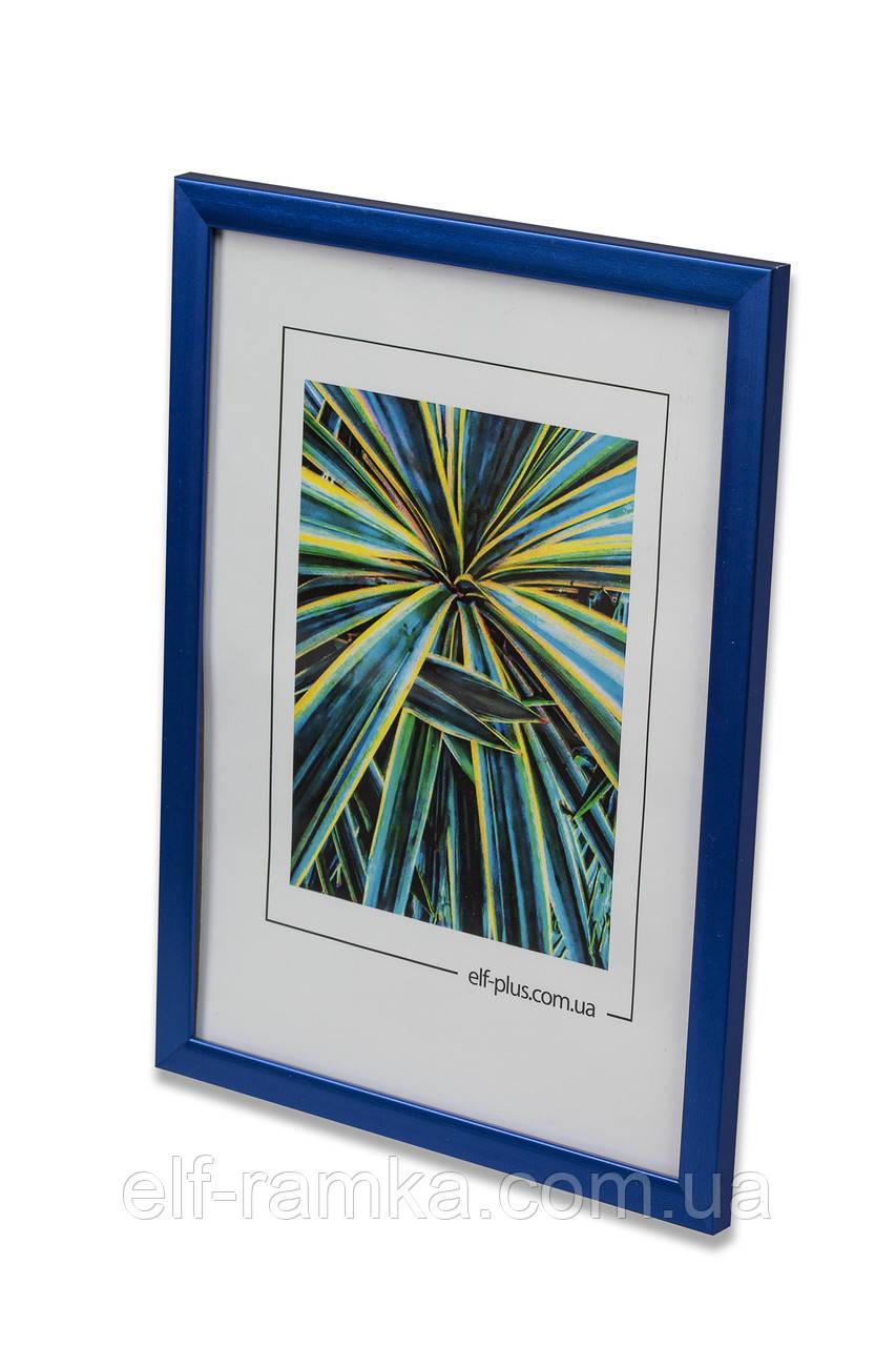 Рамка а3 из пластика - Синий яркий металлик