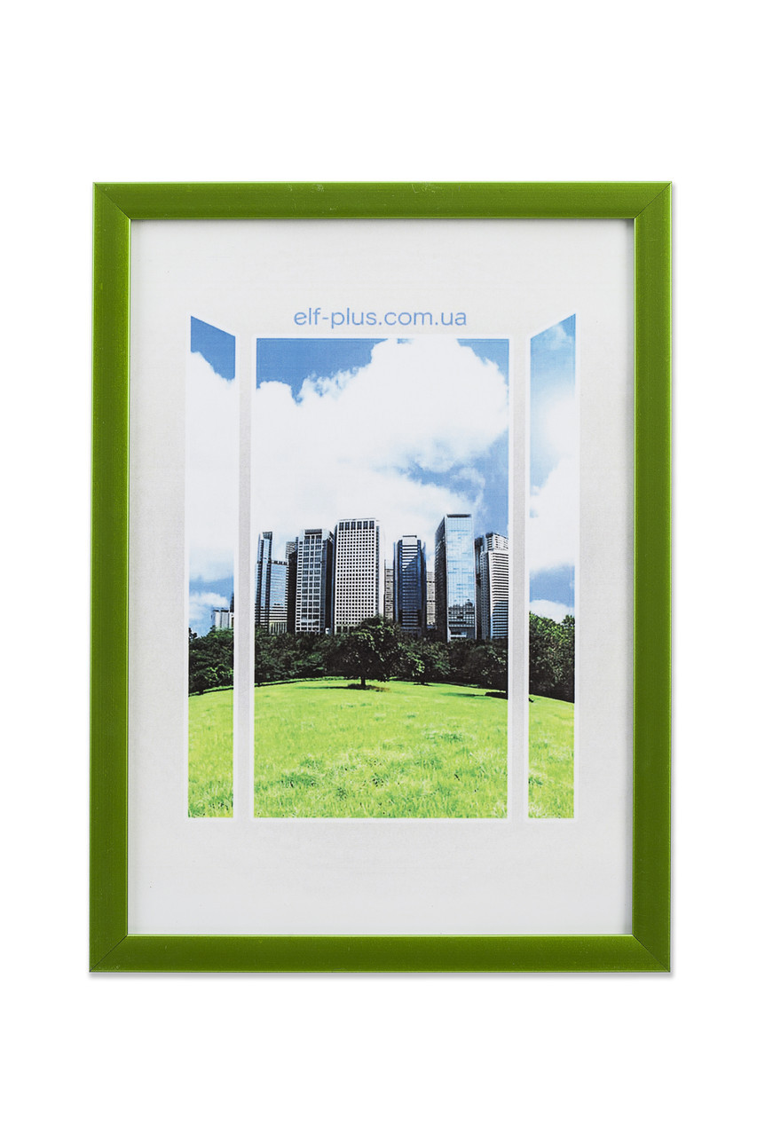 Рамка а3 из пластика - Зелёный   салатовый металлик