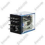Реле OMRON MY4N-J 24VDC, 5A/24VDC, LED индикатор, фото 2