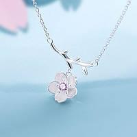 Нежная серебрянная подвеска цветок сакуры. 925 ., фото 1