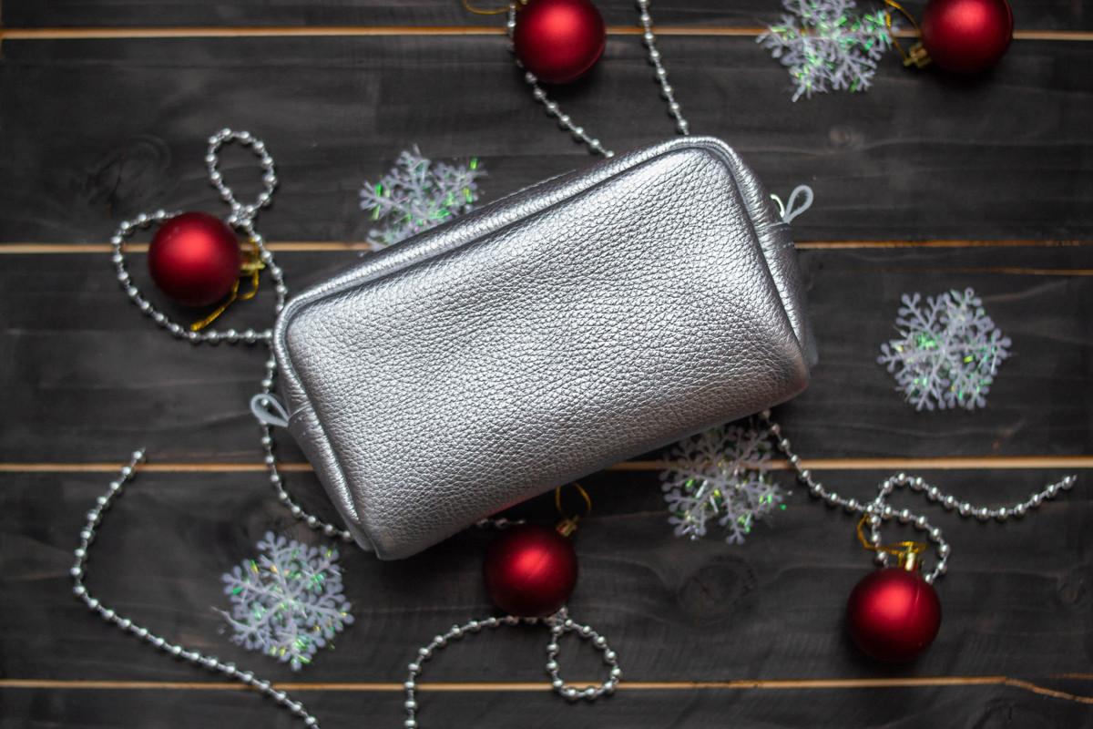 Кожаная косметичка 03 серебро флотар 05030111