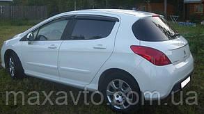 Дефлекторы боковых стекол PEUGEOT 308 2007- (Пежо 308) SIM
