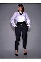 Классическая, белая блуза из «штапеля»