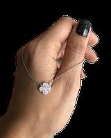 Кулон из серебра Мої прикраси клевер родированый, фото 1