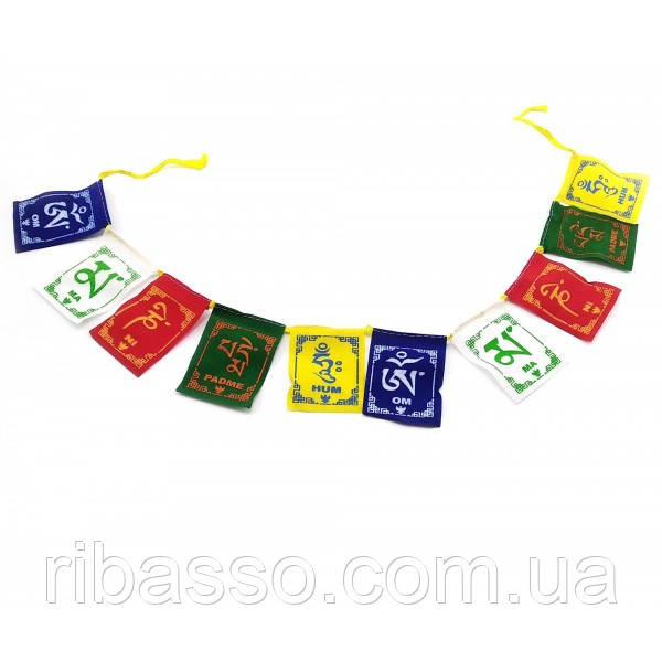 Тибетские флаги с мантрой 53х6 см 32332