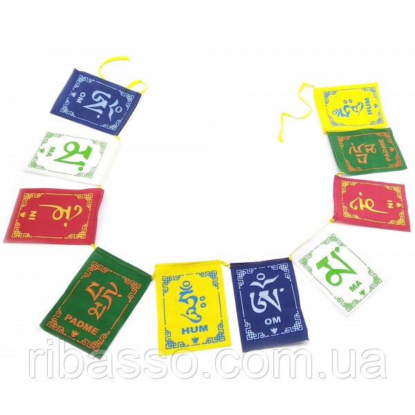Тибетські прапори з мантрою 82х9,5 см 32334