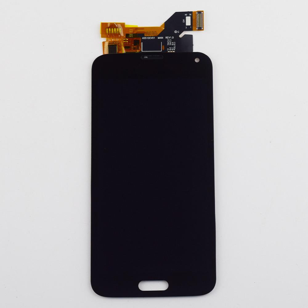 Дисплей (LCD) Samsung GH97-15959B G900H Galaxy S5 с сенсором чёрный сервисный