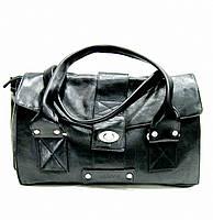 Женская сумка из высококачественной натуральной кожи Lloyd oryginal чёрная (Германия) L608.01