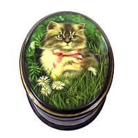 Мини шкатулка лаковая для украшений Кошка