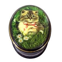 Міні скринька лакова для прикрас Кішка
