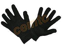 Перчатки вязаные  двойные зимние утепленные, полушерстяные двойные, рукавички в'язані утеплені зимові